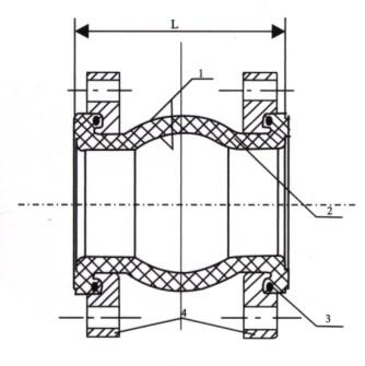 法兰阳端接头结构图